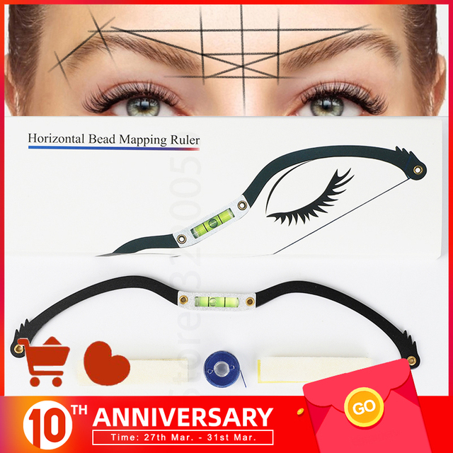 Microblading Eyebrow ruler mapping Kit Permanent Makeup Eyebrow arrow line ruler with Mapping String for brow microshading maker