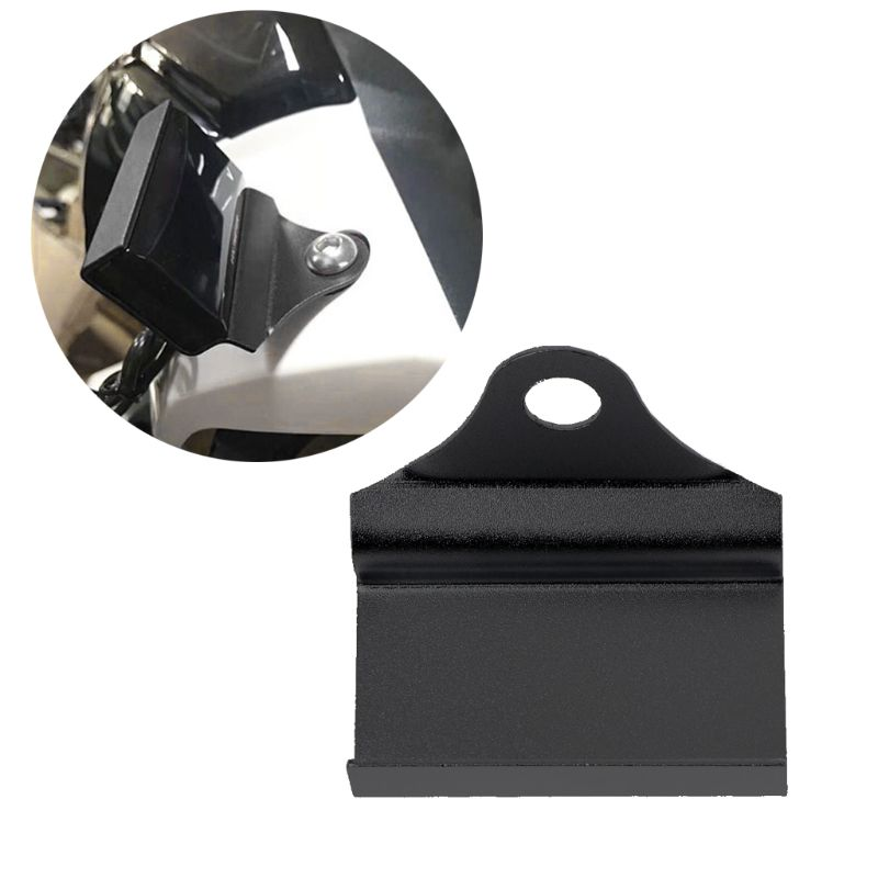 Black Motorcycle Mount Bracket For Water Voltmeter Thermometer Tachometer