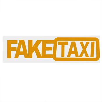 1Pcs 20x4.8cm Universal Car Sticker FAKE TAXI JDM Drift Turbo Hoon Race Auto Funny Bumper Window Body Vinyl Decal Car Styling image