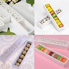 Cajas para pasteles, galletas, Chocolate, macarrones, regalo, fiesta de boda, 10 Uds.