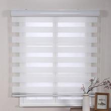 Высокое качество Мягкие жалюзи марлевые окна шторы двойные слои затенения ткани водонепроницаемые и маслостойкие легко установить