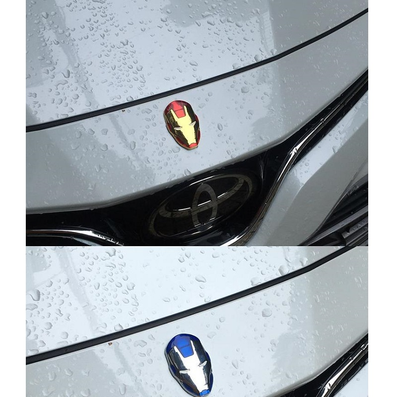 Image 3 - 3D Chrome Metal Iron Man for Car Emblem Stickers Decoration The Avengers Decals Exterior Accessories Silver Gold Car Styling-in Car Stickers from Automobiles & Motorcycles