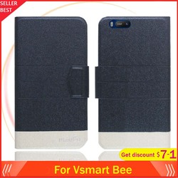 На Алиэкспресс купить чехол для смартфона vsmart bee case 5.45дюйм. flip ultra-thin leather exclusive phone cover fashion folio book card slots