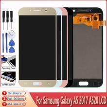ЖК-дисплей для SAMSUNG GALAXY A5 2017 A520 A520F A520K, дисплей с сенсорным экраном и дигитайзером в сборе, ремонтные детали, бесплатные инструменты, качество...