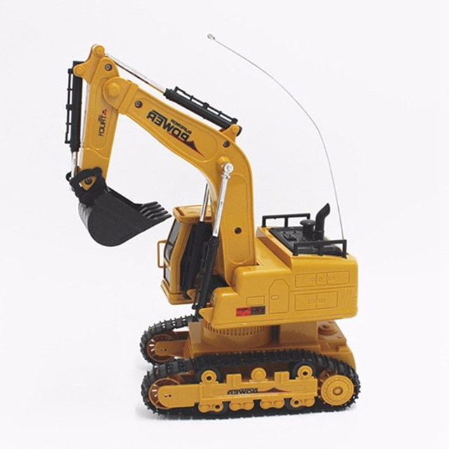 RC Excavator Simulation Engineering Tractor Car Toy 10CH Boy Remote Control Toy Child Christmas Gift RC Truck 2