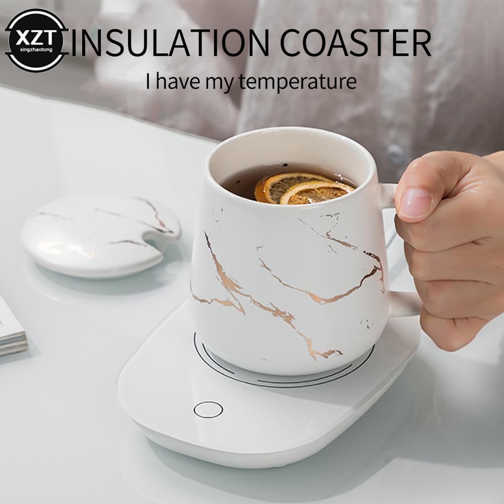 Pad Beverage-Warmer Coaster-Tea Eu-Plug-Insulation-Cup Office Heating Portable Usb 110V