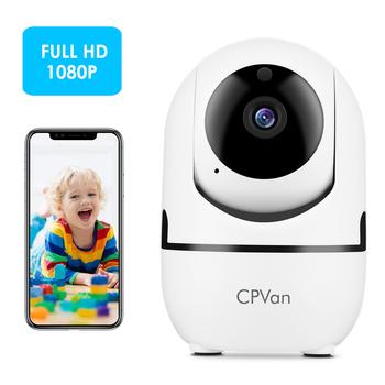 CPVAN niania elektroniczna Baby Monitor kamera IP HD 1080P kryty domu bezprzewodowy kamera Wifi bezpieczeństwa noktowizor nadzoru CCTV tanie i dobre opinie 1080 p (full hd) 3 6mm MINI KAMERA Przez IP sieć bezprzewodową CN (pochodzenie) Normalne Sufit 110-240V WHITE CMOS Zabezpieczenie przed wandalizmem