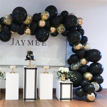 Kit de arco de guirnalda de Globos para Año Nuevo, Globos de látex cromados, dorados y negros, para cumpleaños, bodas y bodas, suministros, 36 Uds., 2021