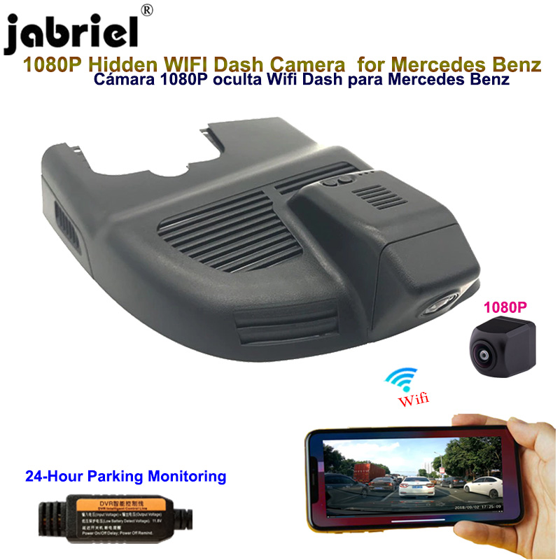 Jabriel Hidden Wifi 1080P Dash cam car camera for <font><b>Mercedes</b></font> Benz <font><b>gla</b></font> cla a 220 220d 250 <font><b>45</b></font> <font><b>amg</b></font> 4MATIC w176 w177 2015 2017 2018 image
