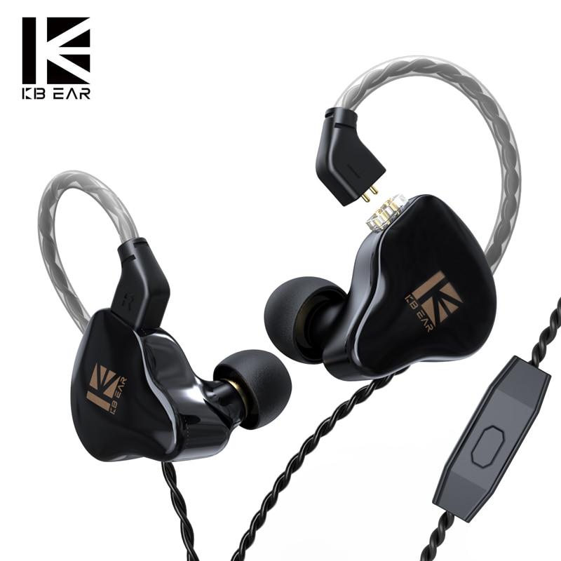 KBEAR KS1 Двойные магнитные динамические наушники-вкладыши HIFI проводные наушники с микрофоном Kbear KS2 KB06