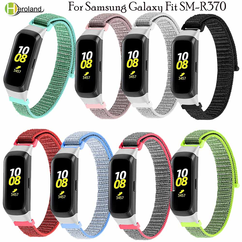 Nylon Strap Watch Band For Samsung Galaxy Fit SM-R370 Smart Wristband Bracelet Watchstrap For Galaxy Fit-e SM-R375+watch Frame