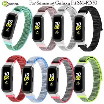 Nylon Strap Watch Band For Samsung galaxy fit SM-R370 smart Wristband Bracelet Watchstrap For galaxy fit-e SM-R375+watch frame laforuta silicone band for galaxy fit e strap rubber sport wrist band for samsung r375 loop women men fitness bracelet 2019