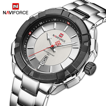 NAVIFORCE 9176 Casual Watches Wristwatch Mens Waterproof Fashion Steel Band Male Clocks with box