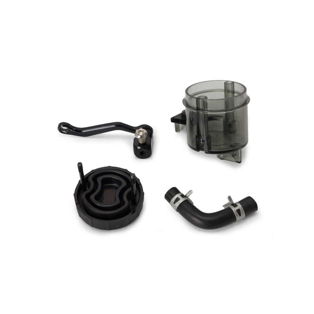 Front Master Cylinder Oil Fluid Reservoir Tank Cap Black with Mounting Bracket for Most Motorcycle Honda Yamaha Suzuki Kawasaki