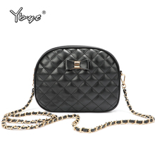 YBYT new fashion crossbody bags for women diamond lattice bow female shoulder messenger bag luxury handbags designer