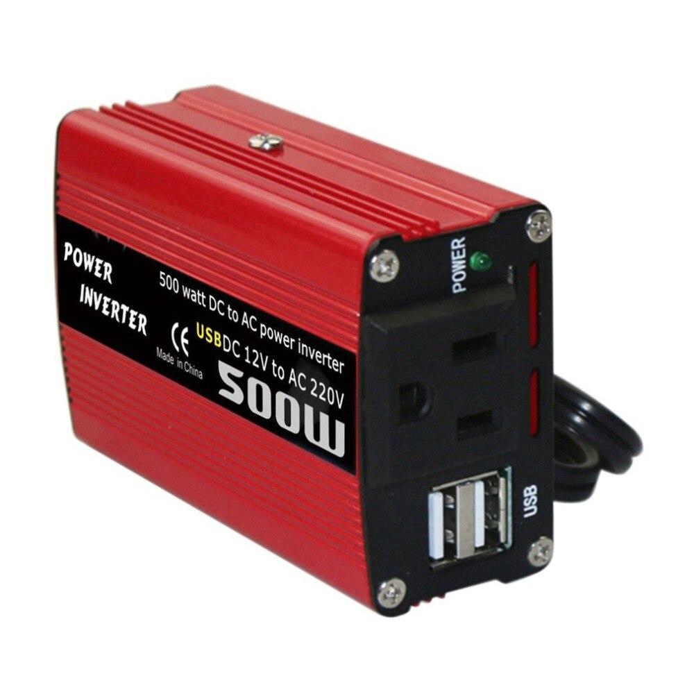 500W DC zu AC Power Converter DC 12V zu 110V 220V AC Auto Inverter Automatische Transformator mit Dual USB Auto Adapter