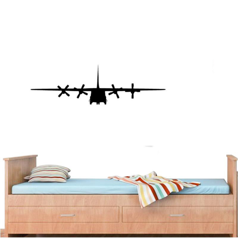 C130 Military Army Airplane Wall Sticker for kids room decor,free ship image