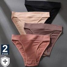 2 unids/set bragas para mujeres lencería Sexy Entrepierna de algodón Pantys mujer ropa interior mujer Bragas Tanga bajo la cintura ropa interior