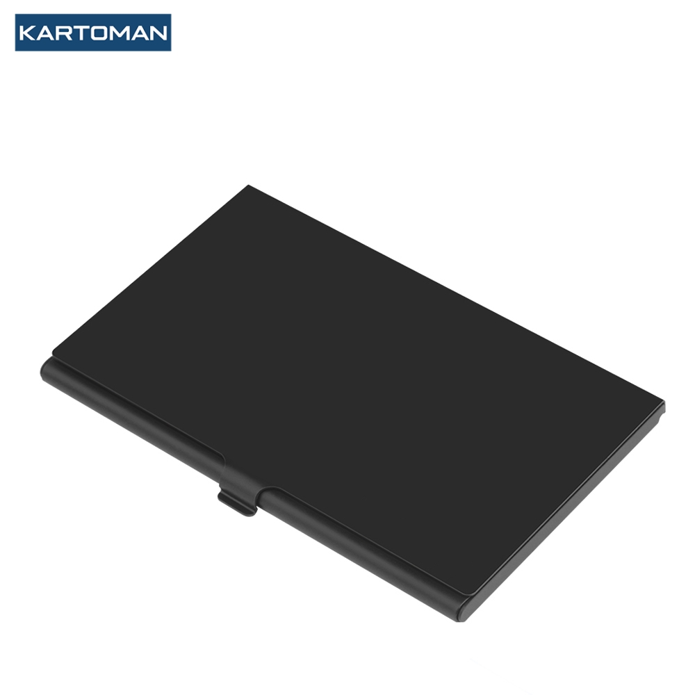 KARTOMAN Aluminum sd memory card storage case microsd/micro sd holder bag memory box placed with 2 sd cards and 4 micro sd cards