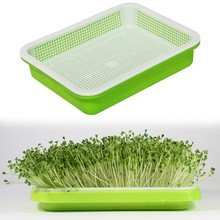 HOT SALE Hydroponics Seed Germination Tray Seedling Sprout Plate Grow Nursery Pots Vegetable Pot Plastic