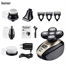 Kemei razor mens beard trimmer electric shaver nose hair facial cleaning multifunctional 5-in-1 5