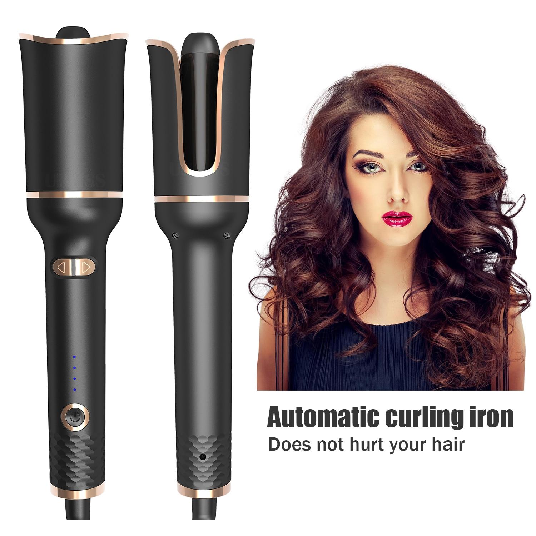 Щипцы для завивки волос, автоматическая плойка с турмалиновым керамическим нагревателем и светодиодной подсветкой, цифровой портативный мини-утюжок для завивки волос 5
