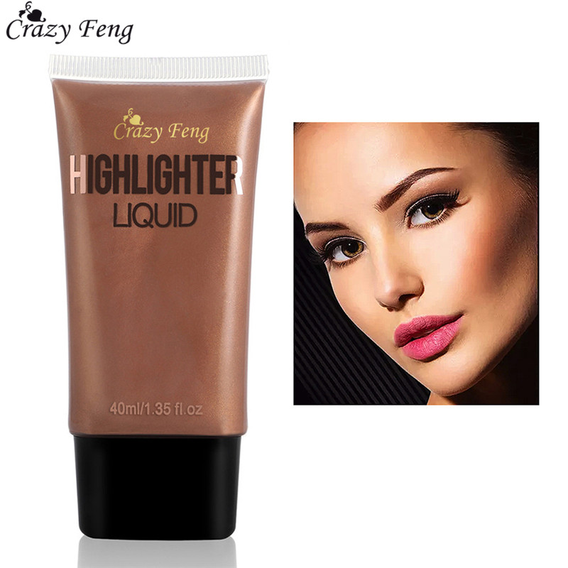 Gold Face Makeup Brightener Highlighter Liquid Glow Illuminator Contour Shimmer Make up Basic Cosmetics