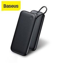 Baseus 20000mAh 전원 은행 PD QC3.0 빠른 충전기 2 USB 유형 C 빠른 충전 휴대용 노트북 충전기 아이폰 외부 배터리 전원 은행 휴대용 충전