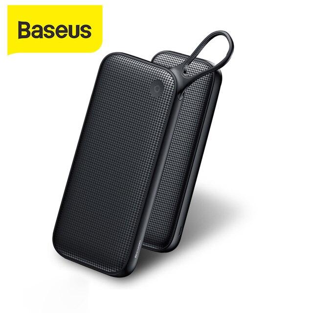 Baseus 20000mAh Power Bank PD QC3.0 быстрое зарядное устройство 2 USB Type C Быстрая зарядка портативное зарядное устройство для ноутбука для Iphone внешний аккумулятор повербанк портативная зарядка