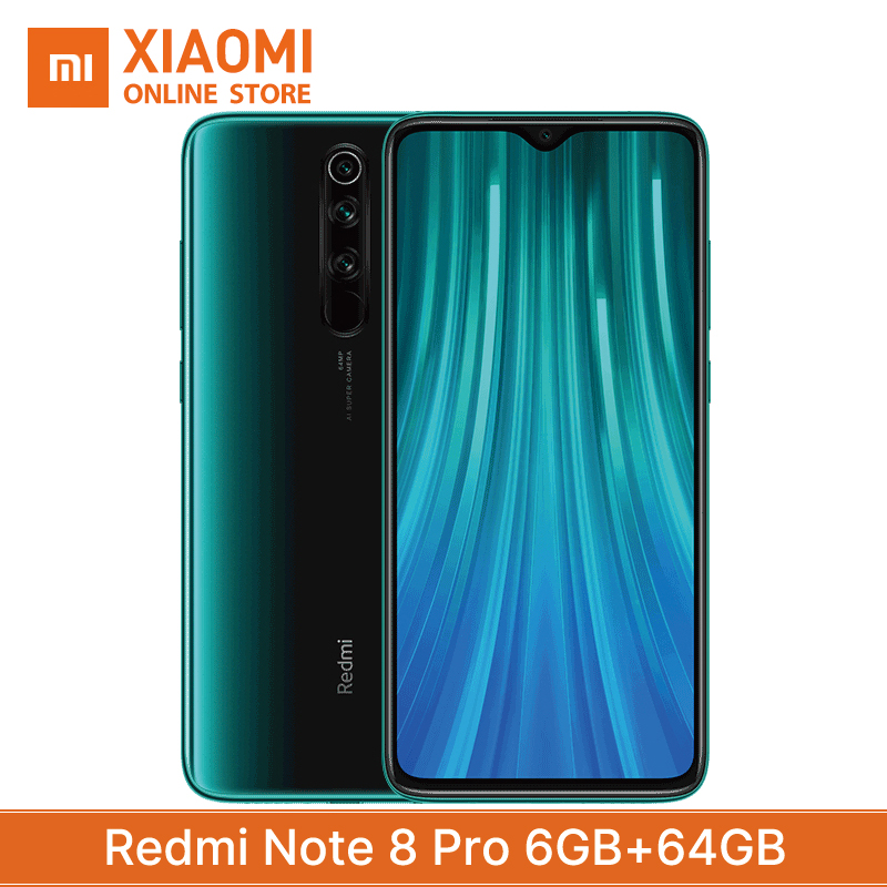 Xiaomi Redmi Note 8 Pro Global Version 6GB 64GB Smartphone Superbattery 4500mAh Helio G90T Game Core 4 Camera 64MP NFC