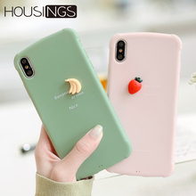 Cute Fruit 3D Phone Case For iPhone 6s 7 8 Cartoon Soft Silicone Cover XR XS Max Dinosaur