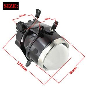 3.0 Bixenon Fog Light M6 Waterproof HID Projector Lens H11 Lamps Blue Coating HD glass car styling retrofit