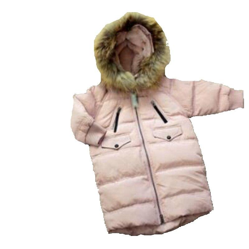 Одежда для девочек в Корейском стиле; Зимний пуховик с капюшоном для больших мальчиков; зимний детский хлопковый пуховик Mianfu на белом утино... - 6