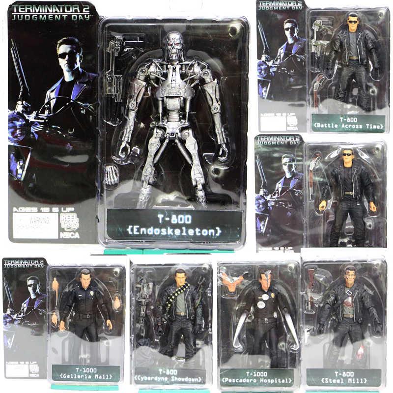 7 tipos Figura de Ação NECA O Exterminador Do Futuro 2 T-800 T-1000 Action Figure Coleccionáveis Modelo Boneca de Brinquedo de Presente