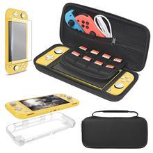 Kit 3 en 1 de bolsa de almacenamiento de viaje portátil, Estuche de transporte para Nintendo Switch Lite Mini 2019 con película de pantalla, carcasa protectora de TPU