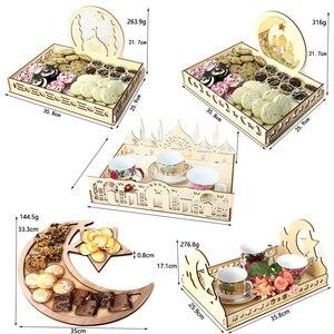 Image 5 - Houten Ramadan Eid Mubarak Decoraties Voor Huis Decoratie Houten Plaque Opknoping Hanger Islam Moslim Evenement Feestartikelen