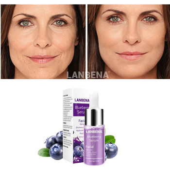LANBENA Blueberry Face Serum With Hyaluronic Acid Six Peptides For Skin Whitening Nourishing Repair Firming Ageless