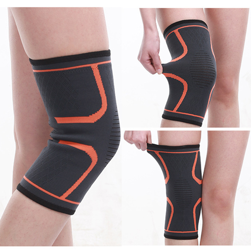 Non-slip Sports Knee Pads  Men Pressurized Elastic Knee Pads Support Fitness Gear Basketball Volleyball Brace Protector