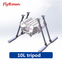 EFT 10L water tank agricultural drone carbon fiber landing gear for multi axis agricultural drone spraying system