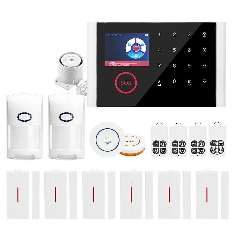 GSM WiFi Home Security Alarm System, GPRS Wireless Anti-Theft Alarm Wi-Fi SMS Call Alert