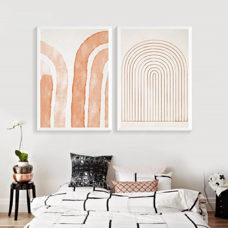 geometric minimalist wall art print living room decor