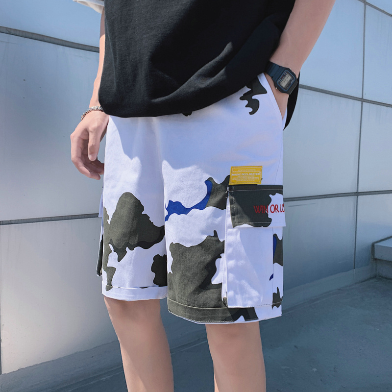 Camouflage Men Shorts Casual Male Military Gym Cargo Shorts Knee Length Mens Summer Short Pants Homme Bermuda Streetwear EE5DK