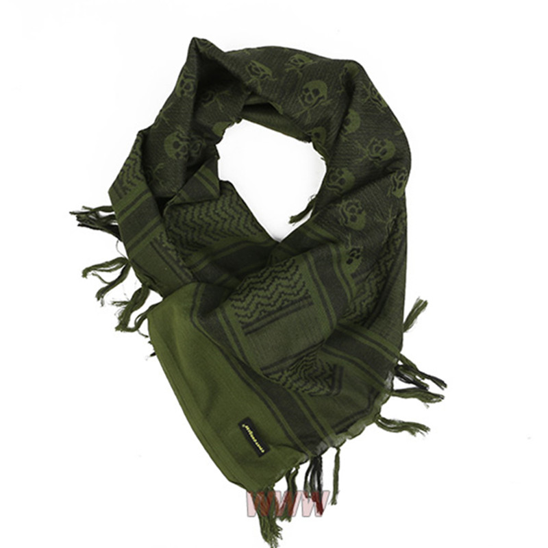 EMERSON Skeleton Arab Kerchief Skeleton M16 Outdoor Hiking Scarves Military Tactical Desert Scarf  Army Desert Shemagh With Tass