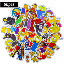 50 Pcs Grappige Anime Cartoon Simpsons Graffiti Stickers Voor Auto Moto & Koffer Cool Laptop Stickers Skateboard Kids Stickers F4(China)