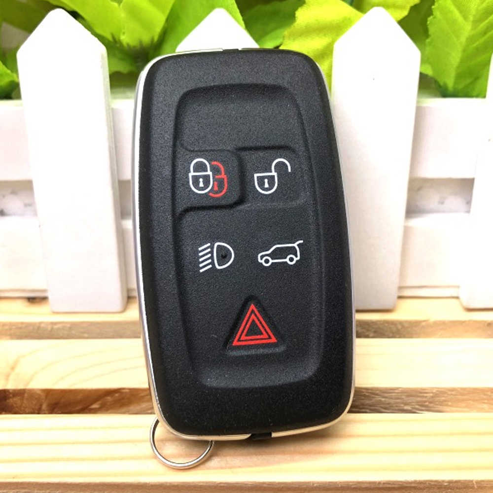 Okeytech Voor Land Rover Discovery 4 Sport Freelander Autosleutel Shell Smart Remote Fob Cover Case 5 Knop Keyless Entry accessorie
