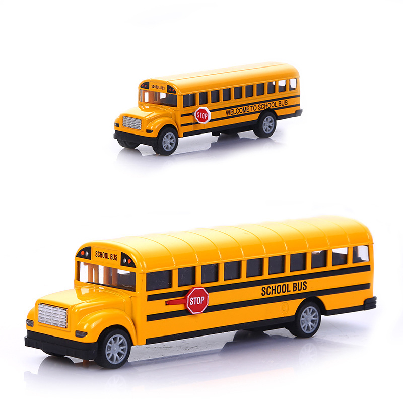 1:16 Children School Bus Toy Alloy Pull Back Diecast STOP Car Model High Quality Simulation Toy Car Boy Birthday Present NTY0108