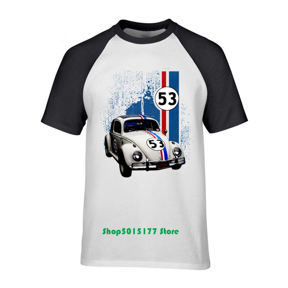 Top Sale 2019 Summer Men Herbie The Love Bug Cotton Design T Shirt Cartoon Movie <font><b>Tshirt</b></font> Herbie madrids <font><b>VW</b></font> Racing car styling For image