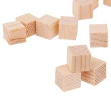 Bloc de bois Cube en bois de 10mm | 50 pièces, jouet artisanal pour l'éducation des enfants, bricolage, Scrapbooking