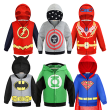 The Avengers Boy Hoodies Sweatshirt Captain America Iron Man Batman The Flash Spider-Man Coats For B