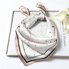 Elegant Silk Scarf Square Shawl Print Women Neck Scarves